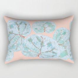 Tropical Sea Grape Leaves Rectangular Pillow