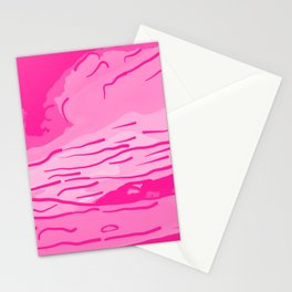 abstract style aurora borealis absmag Stationery Cards