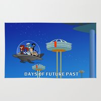 xmen Area & Throw Rugs featuring days of future past, jetsons by juStArt