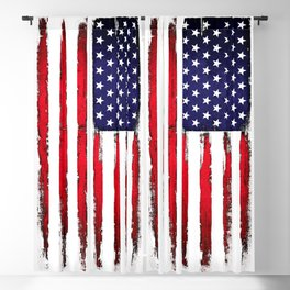 Vintage American flag Blackout Curtain