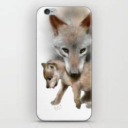 Wolf and Pup iPhone Skin