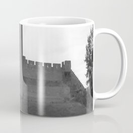 Black and white English Castle Coffee Mug