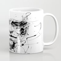 pen Mugs featuring lines hold the memories by agnes-cecile