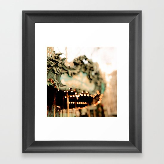 Dreamy Carousel  Framed Art Print