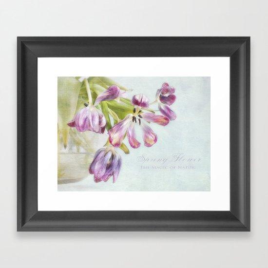 love tulips Framed Art Print