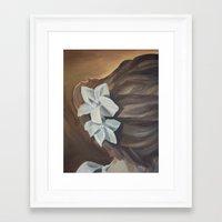 bride Framed Art Prints featuring Bride by Lark Nouveau Studio