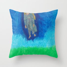 I Am A Cosmic Mystery Throw Pillow
