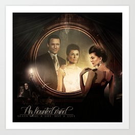 An Haunted Mind (Jason O'Mara & Paige Turco) Art Print