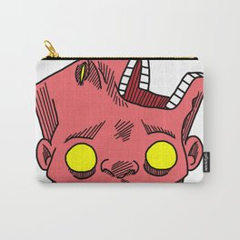 two faced morphed head Carry-All Pouch
