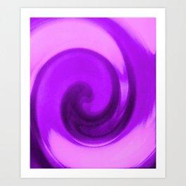 Purple tie dye Art Print
