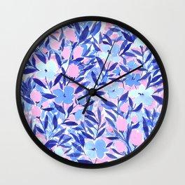Nonchalant Blue Wall Clock
