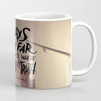 camus Mugs featuring Camus on Finding the Truth by Josh LaFayette