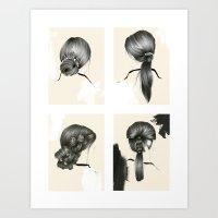 Hair Study (Alopecia areata) Art Print