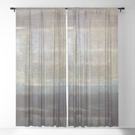 Walter Greaves Gray and Silver Sheer Curtain