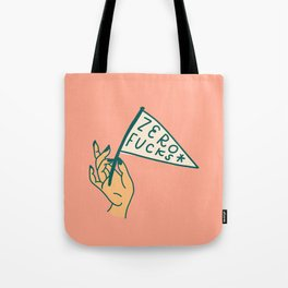 Zero Fucks! Tote Bag