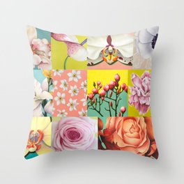 Painting collage Throw Pillow