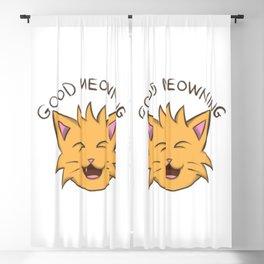 good morning cat good meowning Blackout Curtain
