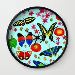 Sensational Butterflies Wall Clock