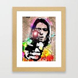 K. Cobain Grunge Framed Art Print
