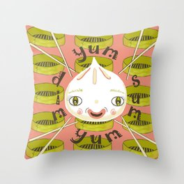 Dim Sum Yum Yum Throw Pillow