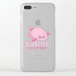 Blobfish Is My Spirit Animal - Funny Meme Ugly Fish Illustration Clear iPhone Case