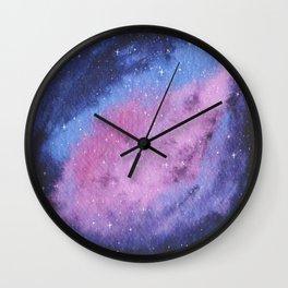 Lovely Galaxy Watercolor 16 Wall Clock