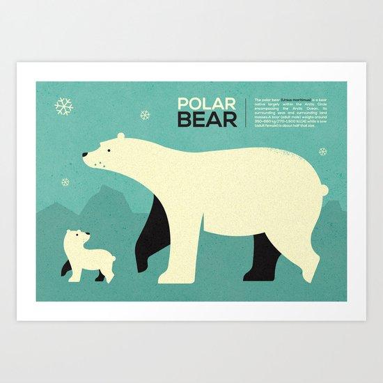 Polar bear infographic ...  Art Print