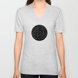 Geometric Black and White Minimalist Pattern Unisex V-Neck