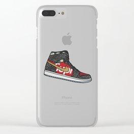 supreme air jordan Clear iPhone Case