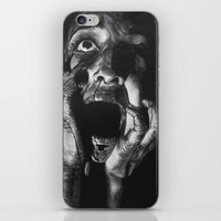 scream iPhone & iPod Skins featuring Scream by OShelby ART