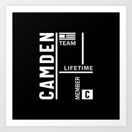 Camden Personalized Name Birthday Gift Art Print