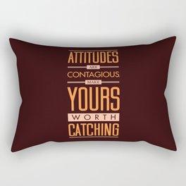 Lab No. 4 Attitudes Are Contagious Life Inspirational Quote Rectangular Pillow