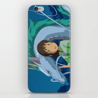 spirited away iPhone & iPod Skins featuring Spirited away by Susan Lewis