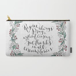 Rejoice Always Carry-All Pouch