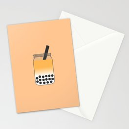 Thai Iced Bubble Tea in Mason Jar Stationery Cards