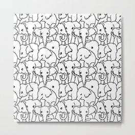 Oh Elephants Metal Print