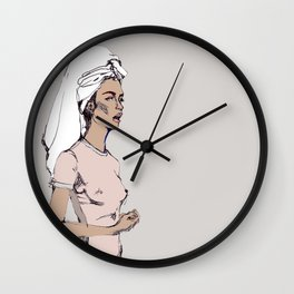 Tanned in Italy Wall Clock