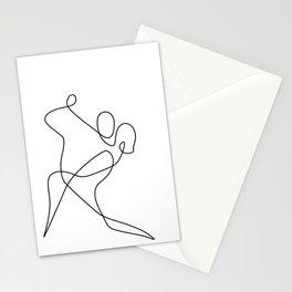 minimal line dance Stationery Cards