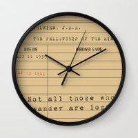 tolkien Wall Clocks featuring J.R.R. Tolkien by Katelyn Piontek