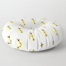 Cut Apple Seamless Background Floor Pillow