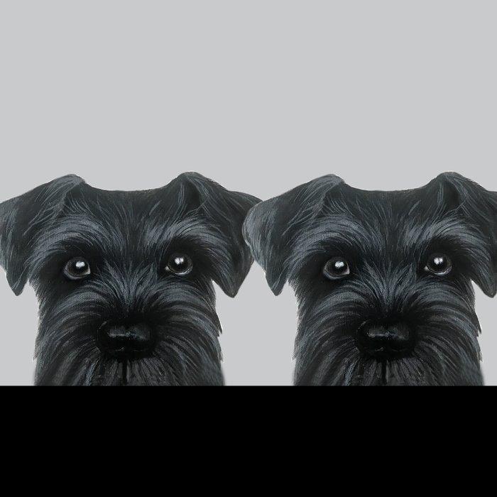 Black Schnauzer, Dog illustration original painting print Leggings