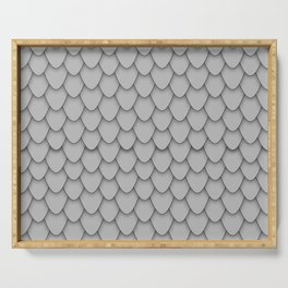 Dragon Scales in Grey Serving Tray