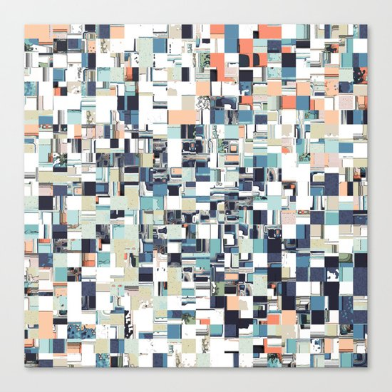 Abstract Jumbled Mosaic Canvas Print