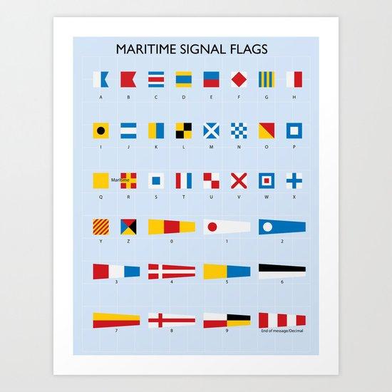 Maritime Signal Flags Poster by nicholasgreen