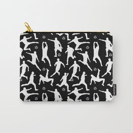 Soccer Players // Black Carry-All Pouch