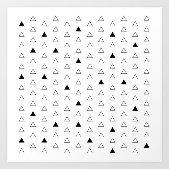 Little Triangles  Art Print