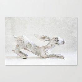 Wooden Rabbit Canvas Print