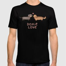 Doxie Love Black SMALL Mens Fitted Tee