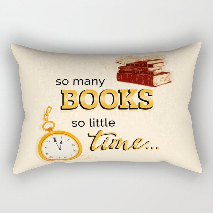 So Many Books! Rectangular Pillow