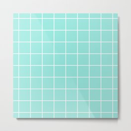 Blue Tiffany Grid Metal Print